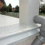 Anschluß der Dachentwässerung nach Abschluß der Sanierungsleistungen.