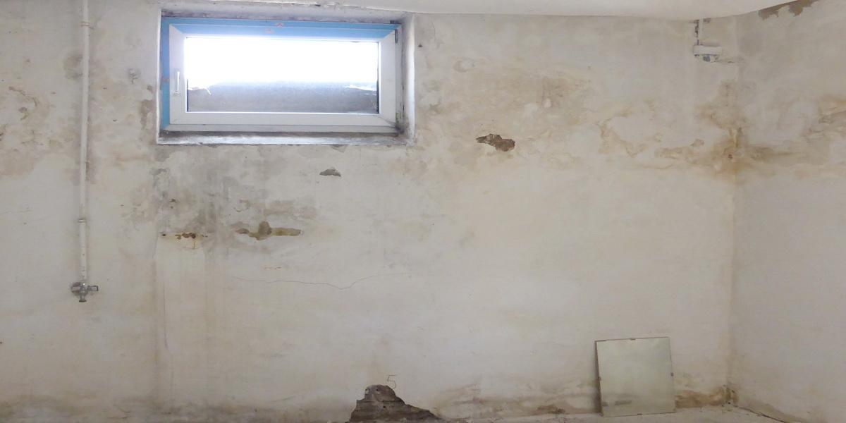 Durchfeuchtete Kellerwand
