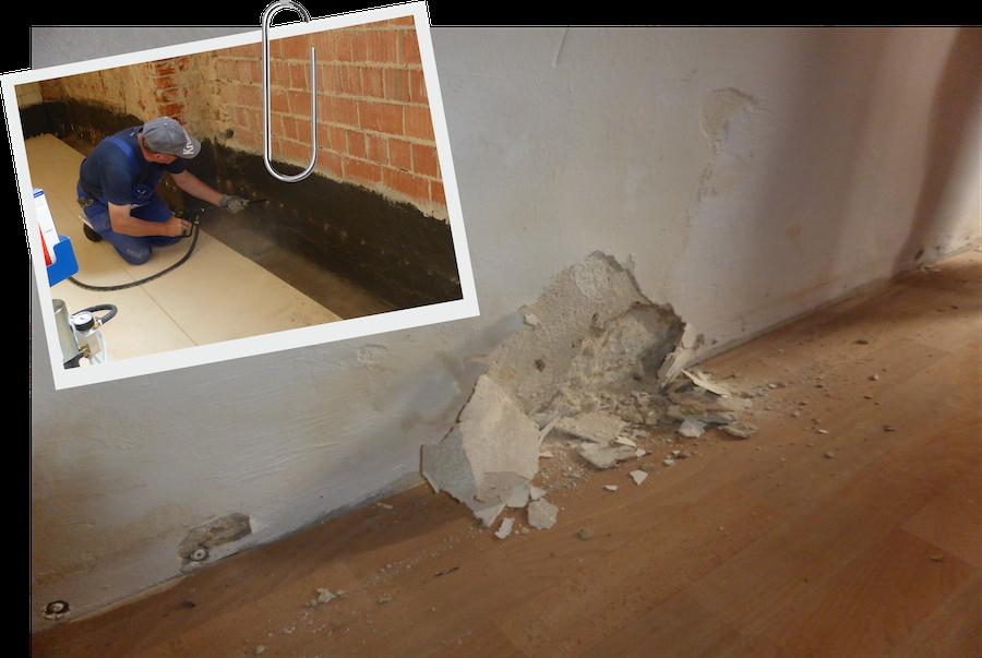 Was passiert mit feuchten Wänden?