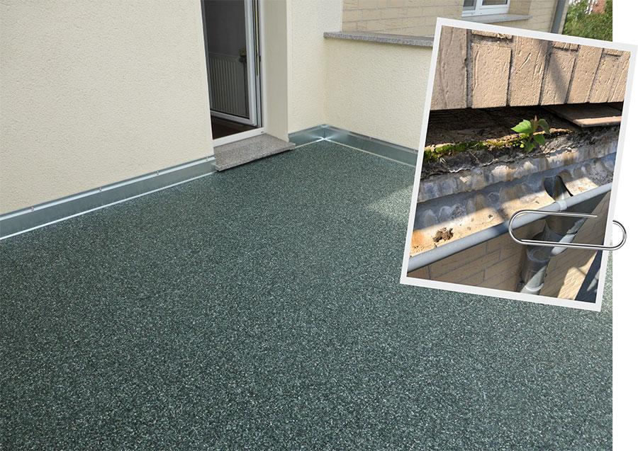 Terrassensanierung vorher und nachher