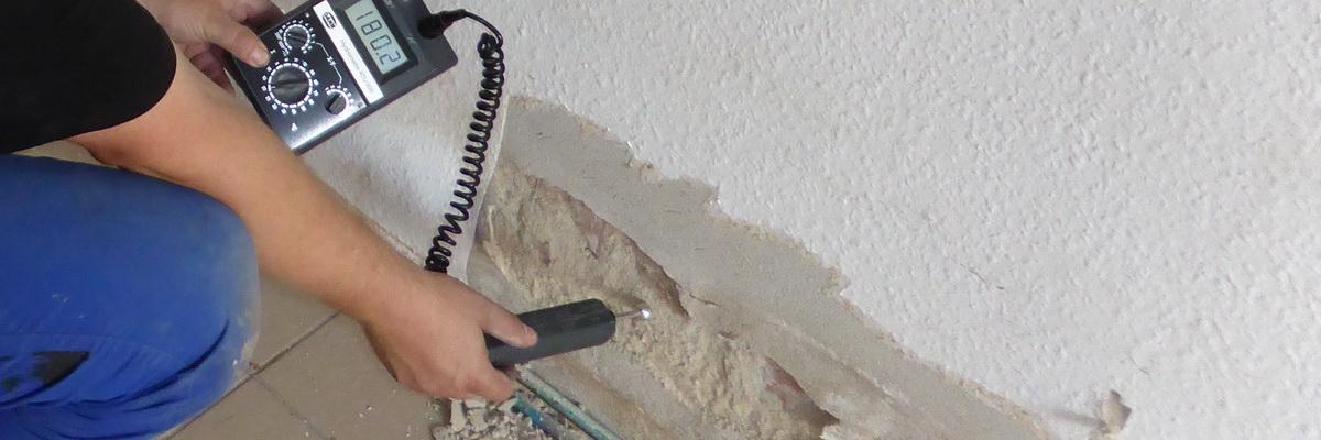 Feuchtemessung im Mauerwerk