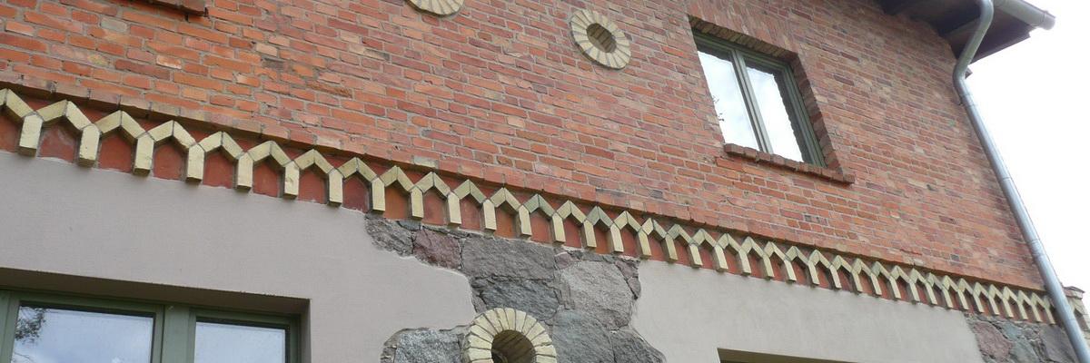 Gereinigte Ziegelfassade
